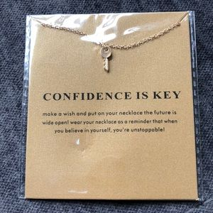 🔑 14k Gold Dipped Confidence is Key Necklace